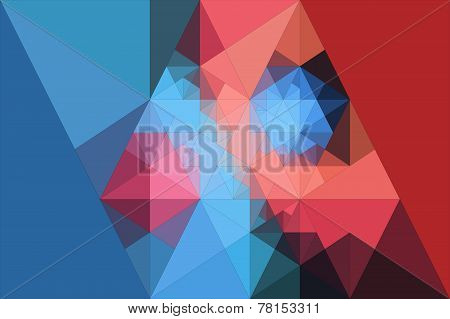 Abstract Background Of Triangles