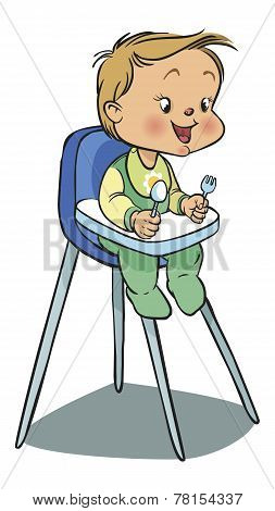 Funny vector cartoon colorfull baby. Vector illustration