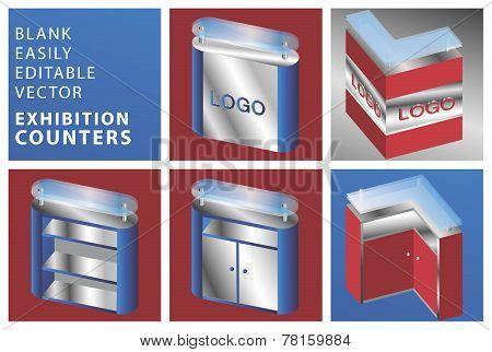 Blank Exhibition Counters Vector