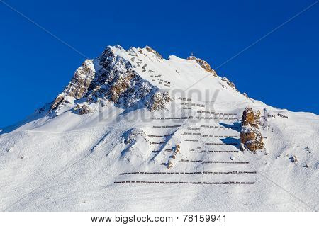 Avalanche fences, Tignes, France