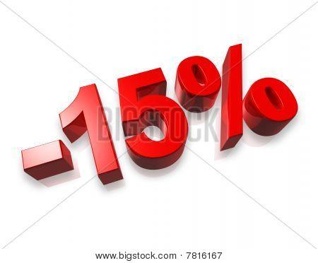 15% Quince por ciento