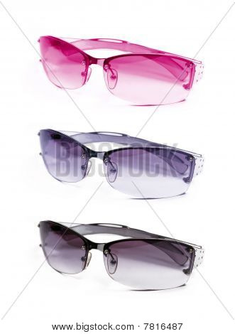 Collection Sunglasses On White