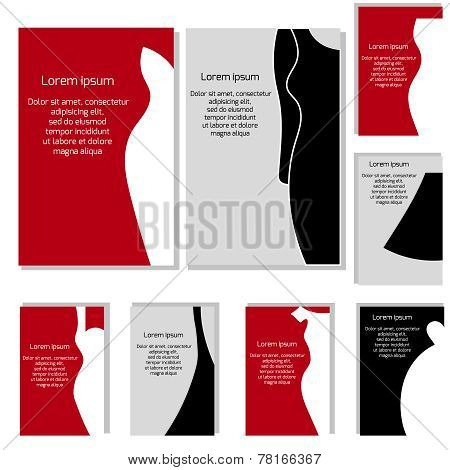 Vector Set With Different Fashion Business Cards