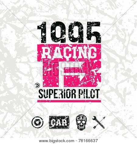 Car Racing Emblem