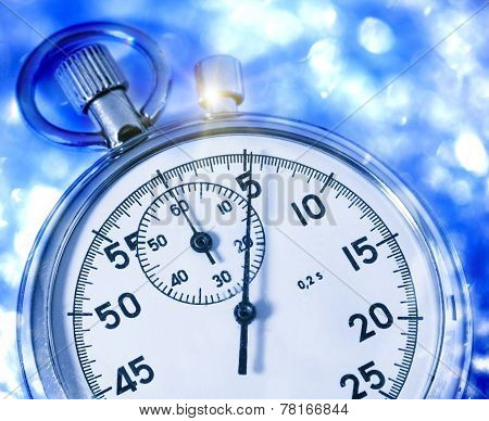 Stopwatch In Blue Toning