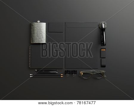 Set Of Black Branding Elements