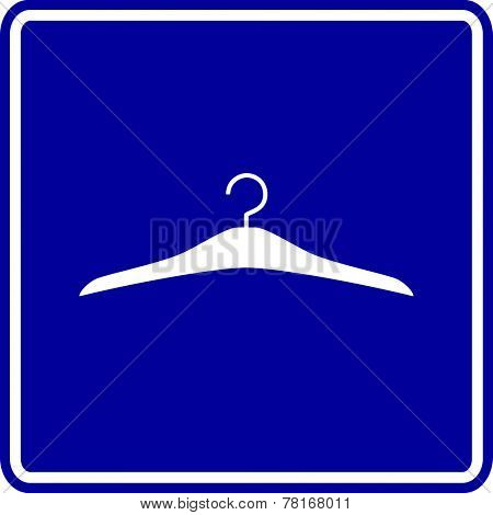 clothes hanger sign
