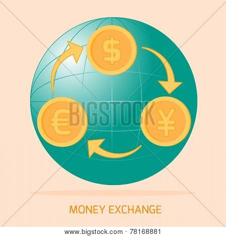 World Money Exchange Icon