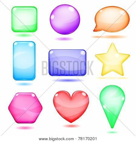 Opaque Colored Glass Shapes