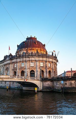 Bode Museum In Berlin In The Evening