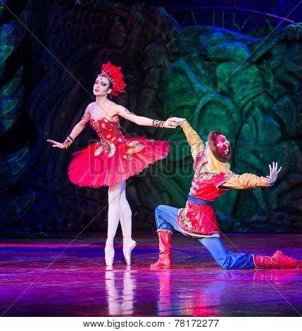 MOSCOW - DECEMBER, 09:  The Firebird Ballet. 200th Anniversary of Lermontov. December 09, 2014 in Kremlin Palace, Moscow, Russia
