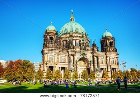 Berliner Dom In The Evening