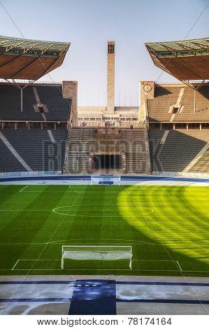Olimpic Stadium Interior In Berlin, Germany