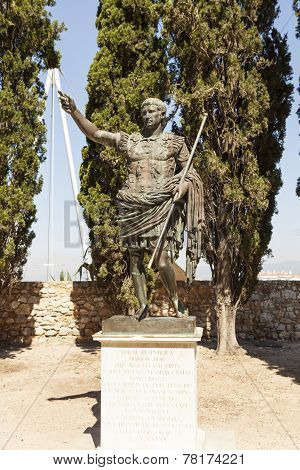 TARRAGONA, SPAIN - JUNE 7, 2013: Photo of Statue of Emperor Augustus.