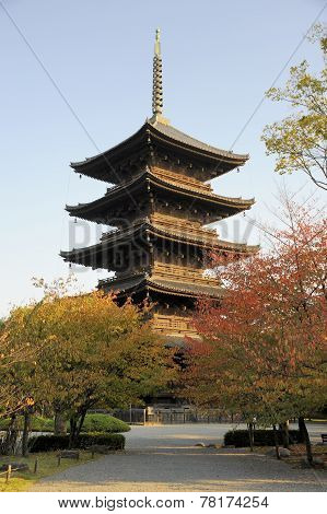 Pagoda At To-ji Temple Complex