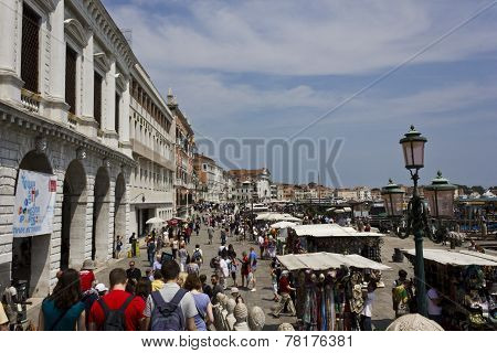 People Walking in Venice