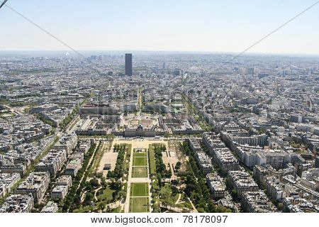 Champ De Mars From The Eiffel Tower, Paris