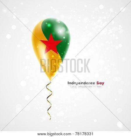Flag Guiana on balloon