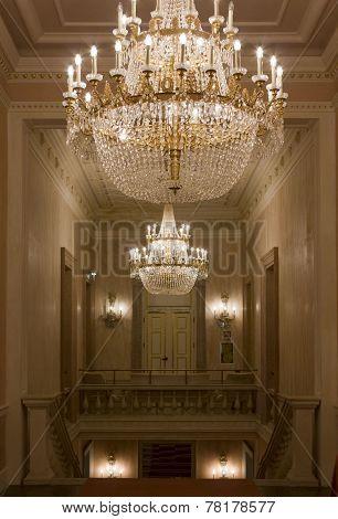Venice la Fenice Theatre chandeliers