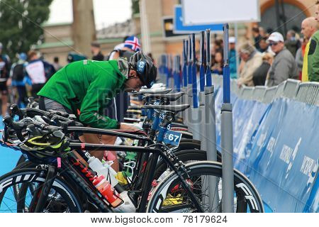 Bruno Matheus Preparing Before Triathlon Race