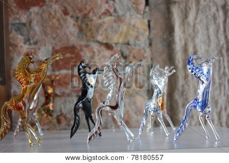 Traditional Venice glass sculptures