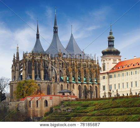 Cathedral Of St Barbara In Kutna Hora