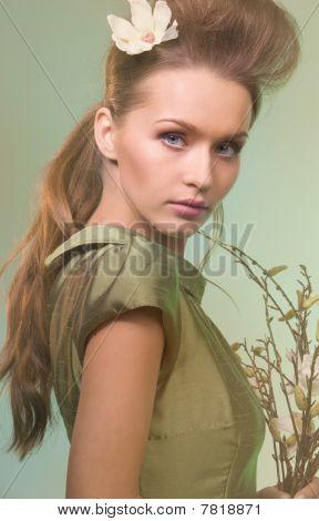 Mulher bonita Green