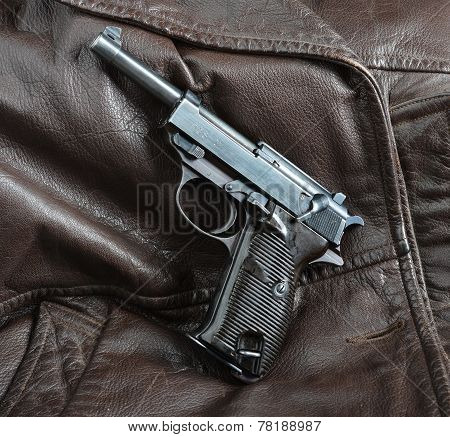 World War Ii German Officers Pistol.