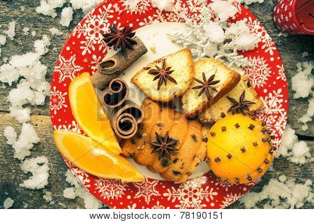 Christmas Cake With Spices