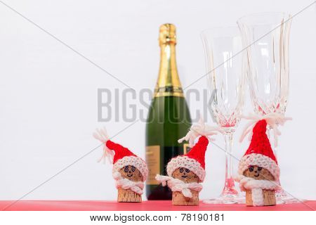 cork and sparkling wine