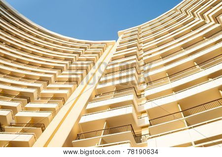 Curving Lines Of Building.