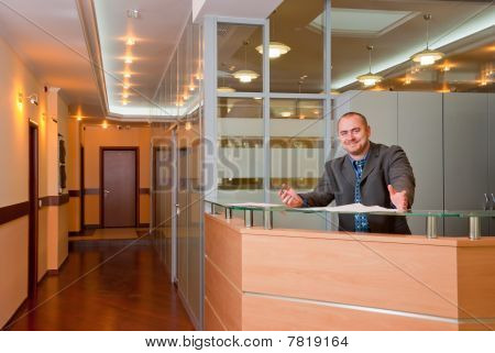 Businessman In The Modern Office