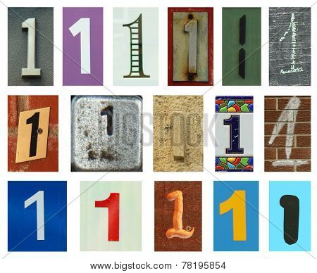 Collection of different colors and texture number one