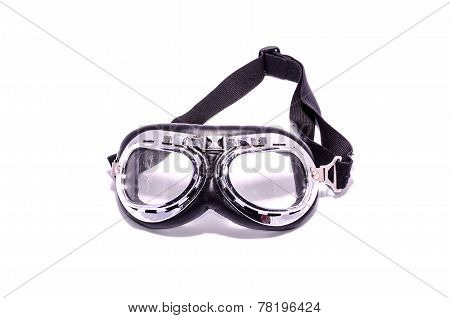 Black Retro Vintage Leathern Goggles