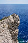pic of promontory  - Rocky promontory on the Mediterranean Sea on the island of Rhodes - JPG