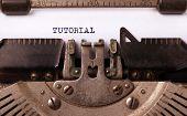 picture of old vintage typewriter  - Vintage inscription made by old typewriter tutorial - JPG