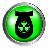 picture of bombshell  - Bomb green button isolated on white background - JPG