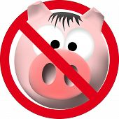picture of cleanliness  - observe cleanliness sign with pink pig over white - JPG