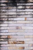 pic of old stone fence  - Old stone wall with a pattern for the background - JPG