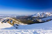 stock photo of snowy hill  - Tatra mountains in snowy winter time - JPG