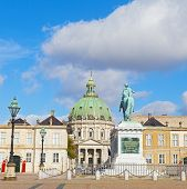 picture of winter palace  - Amalienborg Palaces the winter home of the the Danish royal family and Frederik - JPG