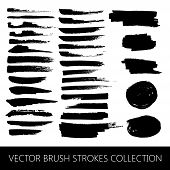 stock photo of stroking  - vector collection of brush strokes and marker stains - JPG