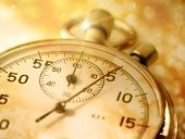 stock photo of stopwatch  - Stopwatch closeup in sepia toning in closeup - JPG