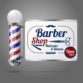 pic of barber  - Realistic vector  - JPG