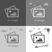 stock photo of not found  - No image creative signs in grayscale - JPG
