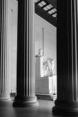 stock photo of abraham  - Abraham Lincoln Statue detail at Lincoln Memorial  - JPG