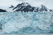 stock photo of mear  - View of Meares Glacier in Prince William Sound - JPG