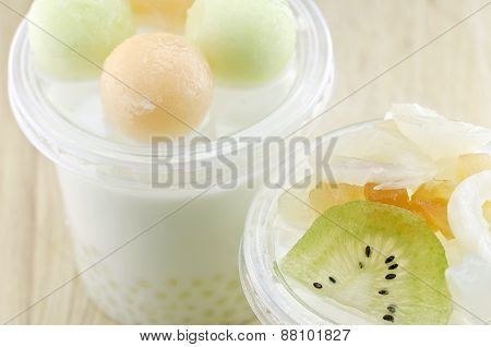 Fruit Pudding In Plastic Cup