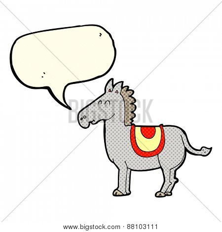 cartoon donkey with speech bubble