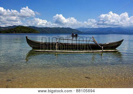 Boats In Madagascar Land
